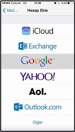 iphone ipad mynet mail kurulumu resimli anlatım
