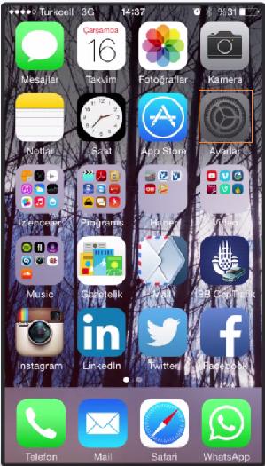 iphone mynet mail kurulumu resimli