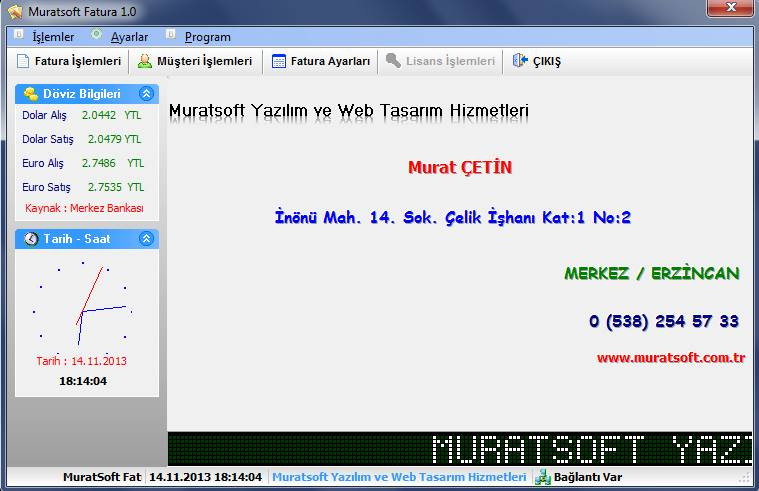 MuratSOFT Fatura Kesme Programı