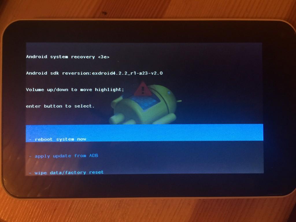 quadro hard reset, tablet sıfırla