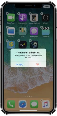 iPhone X Uygulama nasıl kaldırılır? iPhone X uygulama kaldırılmıyor, iPhone X uygulamalar nasıl kaldırılır? iPhone X uygulama nasıl silinir?